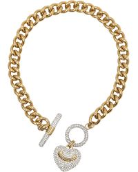 Juicy Couture | Metallic Heart Toggle Necklace | Lyst