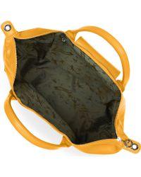 Longchamp - Yellow Le Pliage Cuir Large Handbag - Lyst