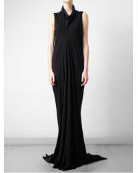 Rick Owens Lilies - Black Shirred Long Skirt - Lyst