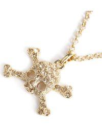 Vivienne Westwood - Metallic Diamante Skull Pendant Necklace - Lyst