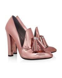 Alexander Wang - Pink Anais Metallic Leather Loafer Pumps - Lyst