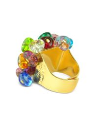Antica Murrina - Metallic Rubik Murano Glass Drops Ring - Lyst