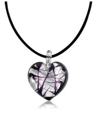 Antica Murrina | Black Passione - Murano Glass Heart Pendant | Lyst