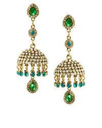 ASOS | Green Envy Bell Earrings | Lyst