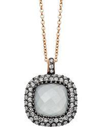 Astley Clarke | Metallic Connie Grey Aquamarine Necklace | Lyst