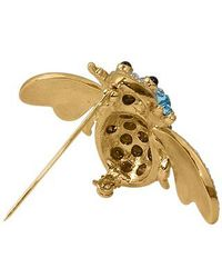 AZ Collection | Metallic Beetle Brooch | Lyst