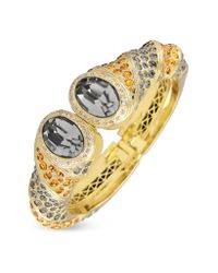 AZ Collection - Metallic Gold-plated Cuff Bracelet - Lyst