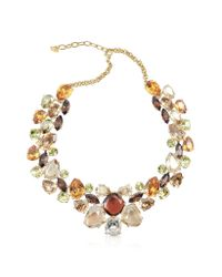 AZ Collection | Multicolor Crystal Necklace | Lyst