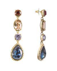 AZ Collection | Metallic Multicolor Drop Earrings | Lyst