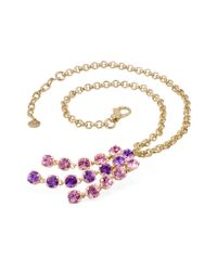 AZ Collection | Pink & Amethyst Gold-plated Necklace | Lyst