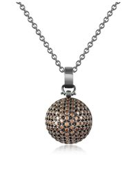 Azhar | Metallic Semi-sphere Pendant Necklace | Lyst