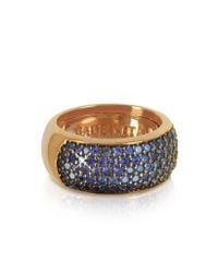 Azhar | Blue Cubic Zirconia Silver Vermeil Ring | Lyst