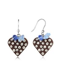 Dolci Gioie - Brown Heart Cake Earrings - Lyst