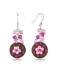 Dolci Gioie - Brown Chocolate Cake Earrings - Lyst