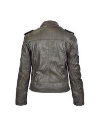 FORZIERI | Dark Brown Asymetrical Zip Leather Motorcycle Jacket | Lyst