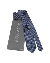 FORZIERI - Brown Mini Paisley Design Woven Silk Tie for Men - Lyst