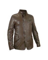 FORZIERI | Men's Dark Brown Leather Zip Jacket for Men | Lyst