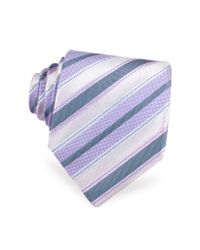 FORZIERI | Purple Lavender Ribbon Bands Woven Silk Tie for Men | Lyst
