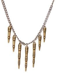 French Connection - Multicolor Spike Necklace - Lyst