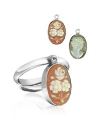 Mia & Beverly - Metallic Cameo Charm Ring - Lyst