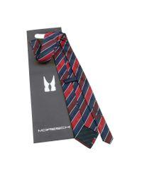 Moreschi - Blue Regimental Woven Silk Tie for Men - Lyst