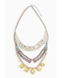 Nasty Gal | Multicolor Sungaze Crystal Necklace | Lyst