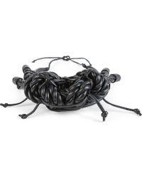 Natalia Brilli - Black Kabuto Leather Necklace - Lyst