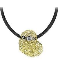Orlando Orlandini | Metallic Arianna - 18k Gold Heart Pendant W/diamond | Lyst