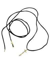 Orlando Orlandini | Metallic Capriccio - 18k Gold Cross Pendant W/ Diamond | Lyst