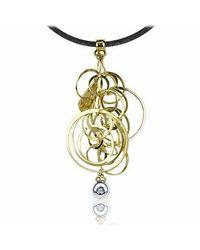 Orlando Orlandini | Metallic Star - 18k Gold Circles Pendant W/ Diamond | Lyst