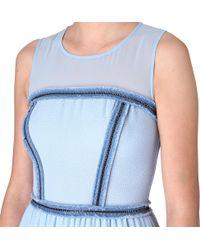 Sandro | Blue Reconciliation Chain detail Dress | Lyst