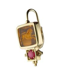 Tagliamonte   Metallic Classics Collection - Ruby And 18k Gold Earrings   Lyst