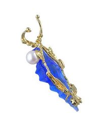 Tagliamonte - Marina Collection - Blue Seashell Tourmaline & 18k Gold Pendant - Lyst