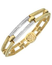 Torrini - Metallic Beatrice - Gold And Diamond Rectangular Link Bracelet - Lyst