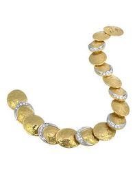 Torrini - Metallic Lenticchie - 18k Gold And Diamond Bracelet - Lyst