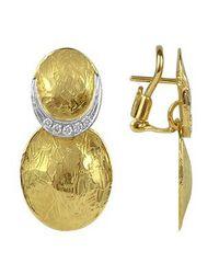 Torrini - Metallic Lenticchie - 18k Gold And Diamond Earrings - Lyst