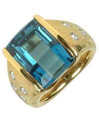 Torrini - Metallic Polly - Topaz And Diamonds Yellow Gold Ring - Lyst