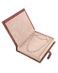 Torrini - Metallic Rondelle Moving Mini - White Gold And Diamond Necklace - Lyst