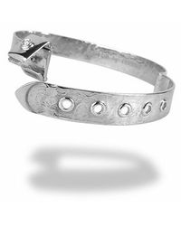 Torrini - Zero - 18k White Gold And Diamond Bangle Bracelet - Lyst
