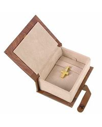 Torrini - 18k Yellow Gold Cross With Diamond - Lyst