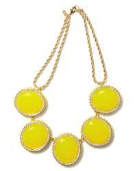 Banana Republic - Yellow Bold Gem Necklace - Lyst