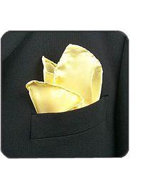FORZIERI - Light Yellow Silk Pocket Square - Lyst