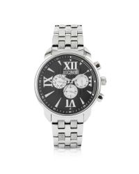 Just Cavalli | Metallic Earth - Black Multifunction Watch for Men | Lyst