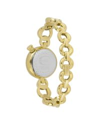 Just Cavalli | Metallic Lily - Gold Dial Stainless Steel Watch | Lyst