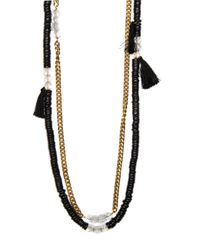 Mango | Black Tassel Necklace | Lyst