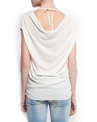 Mango - Metallic Divine Print Tshirt - Lyst