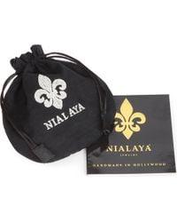 Nialaya - Black Italian Crystal Silver and Matt Onyx Bracelet for Men - Lyst