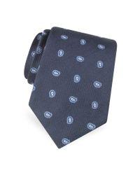 FORZIERI | Blue Mini Paisley Pattern Woven Silk Tie for Men | Lyst