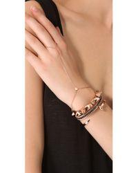 Jennifer Zeuner - Pink Mini Mia Hand Chain - Rose Gold - Lyst