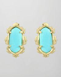 Kendra Scott | Blue Shina Stud Earrings | Lyst